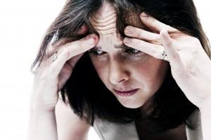 deprimirana žena